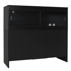 Melamine Cabinet BLACK - fits 48 x 18