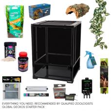 Crested Gecko Complete Kit - Habistat Black